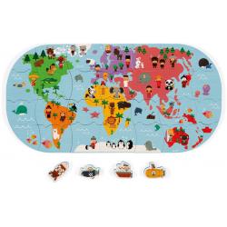 MAPA ŚWIATA puzzle do kąpieli 28 el.