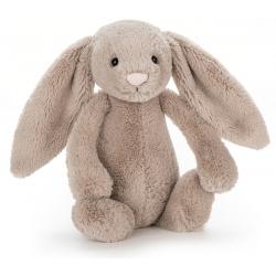 KRÓLICZEK beżowa przytulanka Bashful Bunny 18 cm