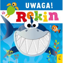 UWAGA! REKIN książeczka sensoryczna z gumowymi elementami