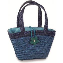 GRANATOWA TOREBECZKA z kwiatkiem shopper bag