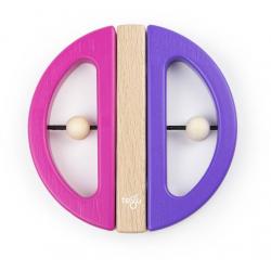 SWIVEL BUG drewniane klocki magnetyczne Pink/Purple