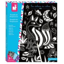NOCNY ŚWIAT zestaw artystyczny zdrapywanka świecąca w ciemności Art&Craft
