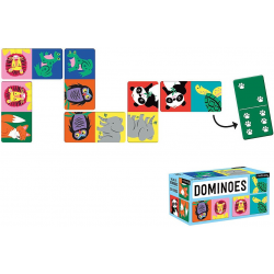 DŻUNGLA tekturowa gra domino 28 el.