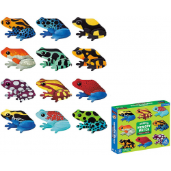 TROPIKALNE ŻABY tekturowa gra memory z elementami w kształcie żab 24 el.