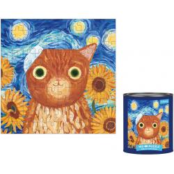 KOTOARTYŚCI Vincat van Gogh tekturowe puzzle w puszce100 el.