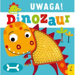 UWAGA! DINOZAUR książeczka sensoryczna z gumowymi elementami