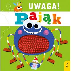 UWAGA! PAJĄK książeczka sensoryczna z gumowymi elementami