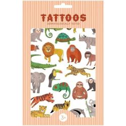 JUNGLE ANIMALS tatuaże zestaw