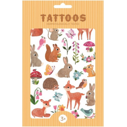 WOODLAND FRIENDS tatuaże zestaw