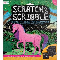 MAGICZNE JEDNOROŻCE zdrapywanka Scratch & Scribble