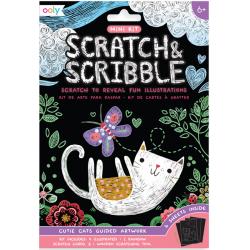 KOTKI mini zdrapywanka Scratch & Scribble