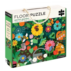 TAJEMNICZY OGRÓD tekturowe puzzle podłogowe 24 el.