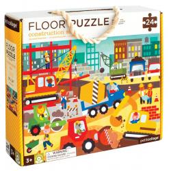 PLAC BUDOWY tekturowe puzzle podłogowe 24 el.