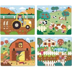 FARMA drewniane puzzle progresywne 4w1