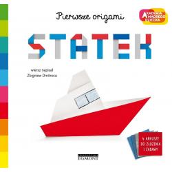 STATEK Pierwsze origami Akademia mądrego dziecka książka Zbigniew Dmitroca