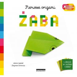 ŻABA Pierwsze origami Akademia mądrego dziecka książka Zbigniew Dmitroca