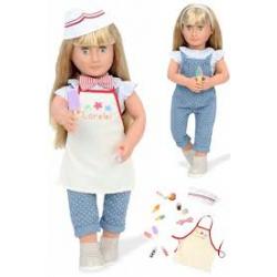 LORELEI duża lalka blondynka 46 cm sprzedawczyni