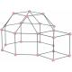 ZWARIOWANY NAMIOT szaro - różowy zestaw konstrukcyjny 72 el.