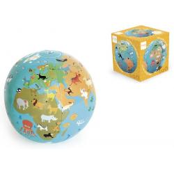 MAPA ŚWIATA piłka dmuchana 30 cm
