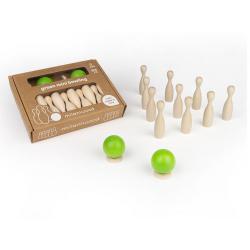 MINI KRĘGLE drewniana gra zręcznościowa