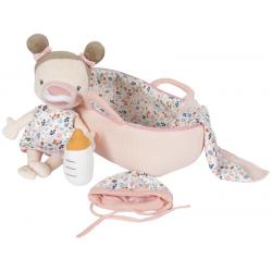 BABY ROSA lalka szmacianka w nosidełku
