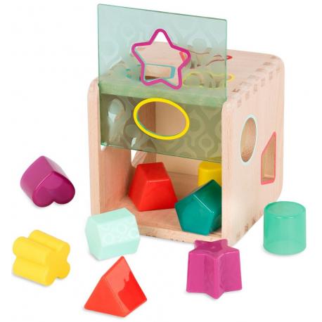 DREWNIANA KOSTKA sorter kształtów i kolorów Wonder Cube