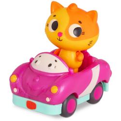 MIĘKKIE AUTKO SENSORYCZNE wyścigówka z kotkiem Lolo & Smarty Pants