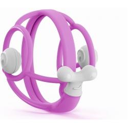 ŚLIMACZEK fioletowy silikonowy gryzak z grzechotką