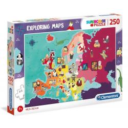 SŁAWNI LUDZIE W EUROPIE puzzle tekturowe 250 el. Exploring maps