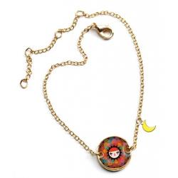 SŁOŃCE bransoletka z medalionem Lovely Paper