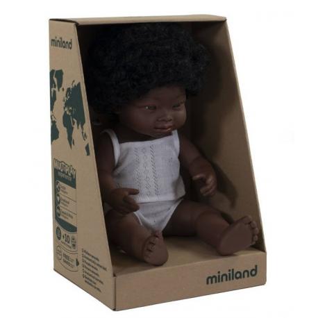 AFRYKANKA lalka dziewczynka zespół Downa 38 cm