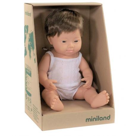 EUROPEJCZYK lalka chłopiec zespół Downa 38 cm