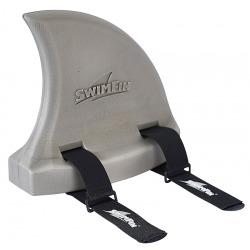 JASNOSZARA PŁETWA do nauki pływania Warm grey
