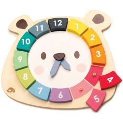 MIŚ drewniany zegar edukacyjny