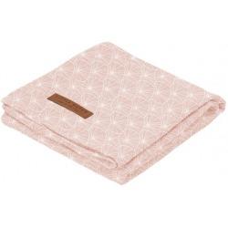 BAWEŁNIANY OTULACZ 120x120 cm Lily Leaves Pink