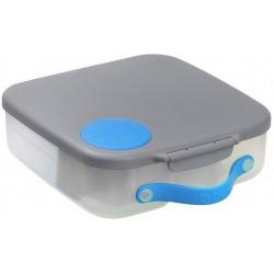 SZARY lunchbox z wkładem chłodzącym Blue Slate