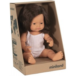EUROPEJKA lalka dziewczynka brązowe włosy 38 cm