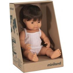 EUROPEJCZYK lalka chłopiec brązowe włosy 38 cm