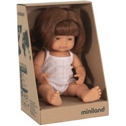 EUROPEJKA lalka dziewczynka rude włosy 38 cm