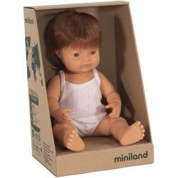 EUROPEJCZYK lalka chłopiec rude włosy 38 cm