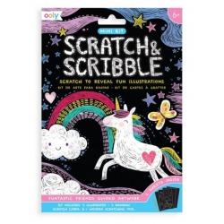 FANTASTYCZNI PRZYJACIELE mini zdrapywanka Scratch & Scribble