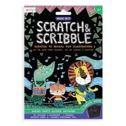 IMPREZA SAFARI mini zdrapywanka Scratch & Scribble