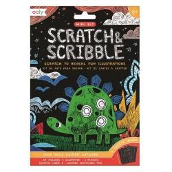 DINOZAURY mini zdrapywanka Scratch & Scribble