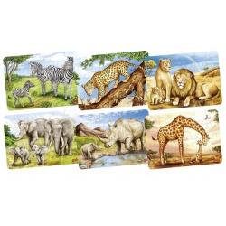 NOSOROŻCE drewniane puzzle 24 el.