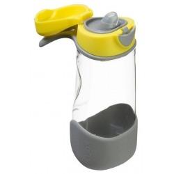 ŻÓŁTA sportowa tritanowa butelka z ustnikiem Lemon Sherbet