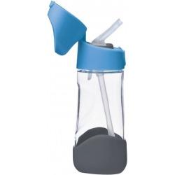 NIEBIESKA tritanowa butelka ze słomką Blue Slate