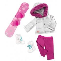 SNOWBOARD zimowe ubranka dla lalki 46 cm Chill on the Hill