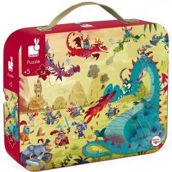 SMOKI puzzle tekturowe w walizce 54 el.