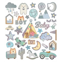 BABY BOY naklejki holograficzne