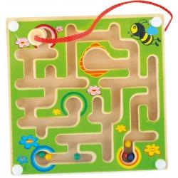 ZIELONY LABIRYNT magnetyczny drewniana gra zręcznościowa